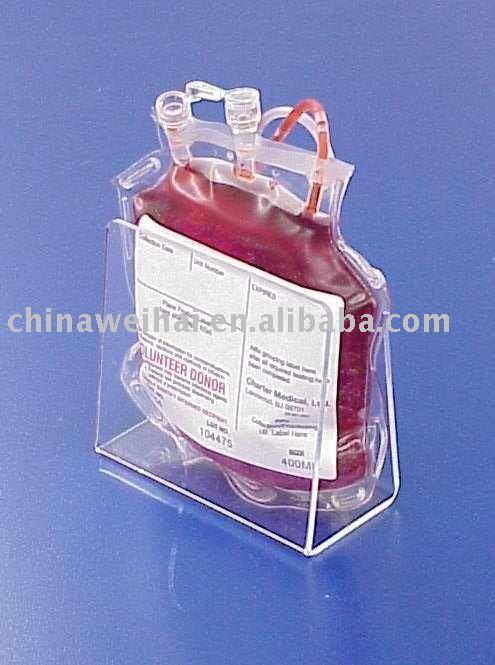 single blood bag display view acrylic bag display weihai