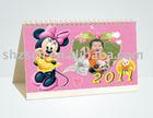 cute desk calendar/common calendar/wooden desk calendar