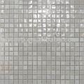 Cremoso de azulejos de mosaico de vidrio - mosaico del arte