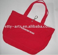 red country road cotton bag