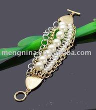 New arrivals--Fashion chain&bead bracelet-D01286