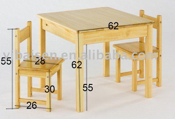 Comedores en madera para ni os imagui for Sillas para chicos