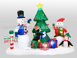 TOP inflatable christmas tree,inflatable christmas product