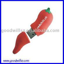 Red Chili Shape USB Flash Memory