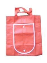 Rubber pink non-woven shopping bag for girl