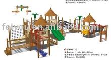 Wooden Post Plast Slide combination