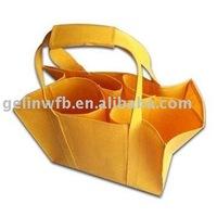 New non woven Wine bottle carrier tote Bag 6 bottles for promotion( WINE-001)