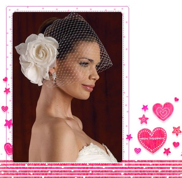 One Layer Birdcage Bridal