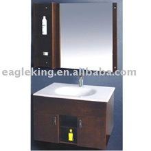 Modern Smooth Chocolate Solid Bathroom Vanity Cabinet