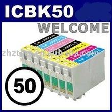 Compatible Epson ink cartridge ICBK50 BK/C/M/Y/LC/LM for EPson PM-A920/PM-G850/PM-D870/PM-T960/ G4500/EP-301/EP-801A/EP-901F