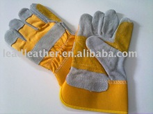 cow split leather industrial double palm gloves 2012