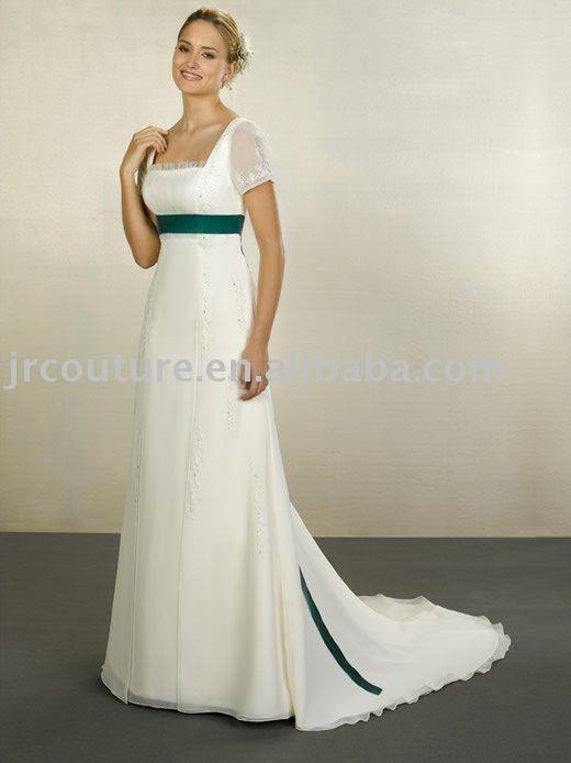 chiffon wedding dress with sleeves. JRCouture Wedding Dress