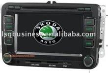 SKODA OCTAVIA car dvd PLAYER with GPS NAVIGATION(golden edition)
