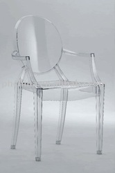 Clear Acrylic Ghost Armchair;Victoria Acrylic Ghost Chair;Louis Acrylic Ghost Chair