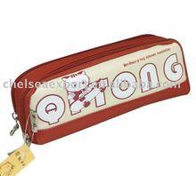 600D two zipper school pen bag pouch