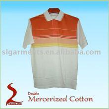 Double Mercerized 100% cotton Polo shirt for men