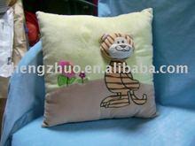 Stuffed plush animal cushion,tiger pillow