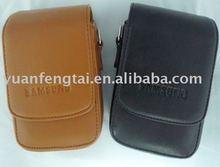 Fashionable Leather Camera Bag For samsung leather camera bag with shoulder straps