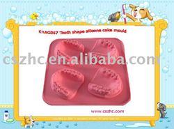 KHAG013 tooth shape silicone cake mold