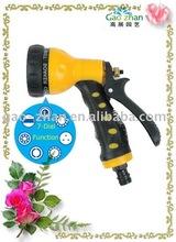 7-Dial Function Plastic Garden Water Spray Gun With Soft Handle