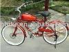 """24"""" new style red beach cruiser gas moto bike"""
