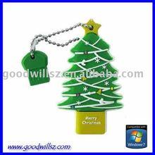 Santa Claus Christmas Tree USB Memory Pen