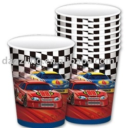 Disposable Party Paper Cup - Nascar Racing