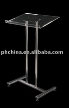 SL-36 FLOOR-STANDING ACRYLIC LECTERN WITH STAINLESS STEEL STAND