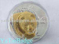 panda souvenir coin gold