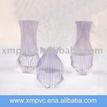 Elegant pvc vase serious-Light purple pvc folding vase
