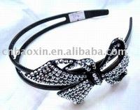 Fashion rhinestone centers fabric flower hair clips