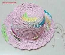 NTS101106-049 Fashion children hat/ Straw hat/kids paper hat