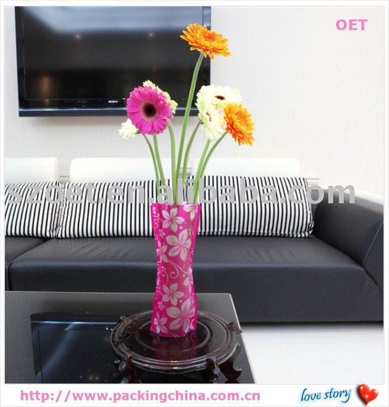 Surja el florero, hecho del material plástico, PP, PET.PVC, desigh de la manera