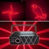 Night club disco red animation laser light show