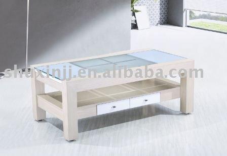 glass side table. living room modern glass side