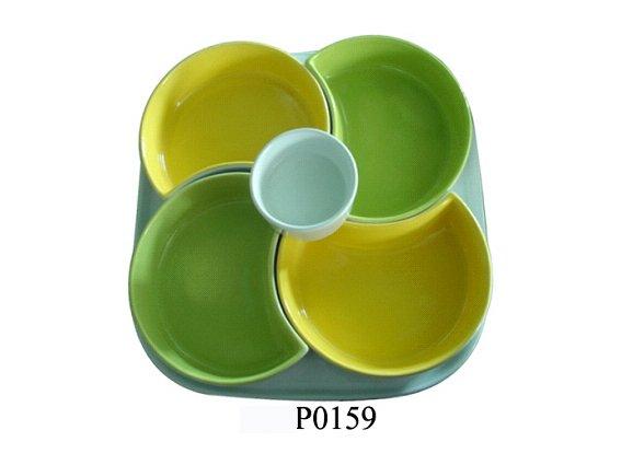 Céramique entrée set avec couleur, Plats ensemble