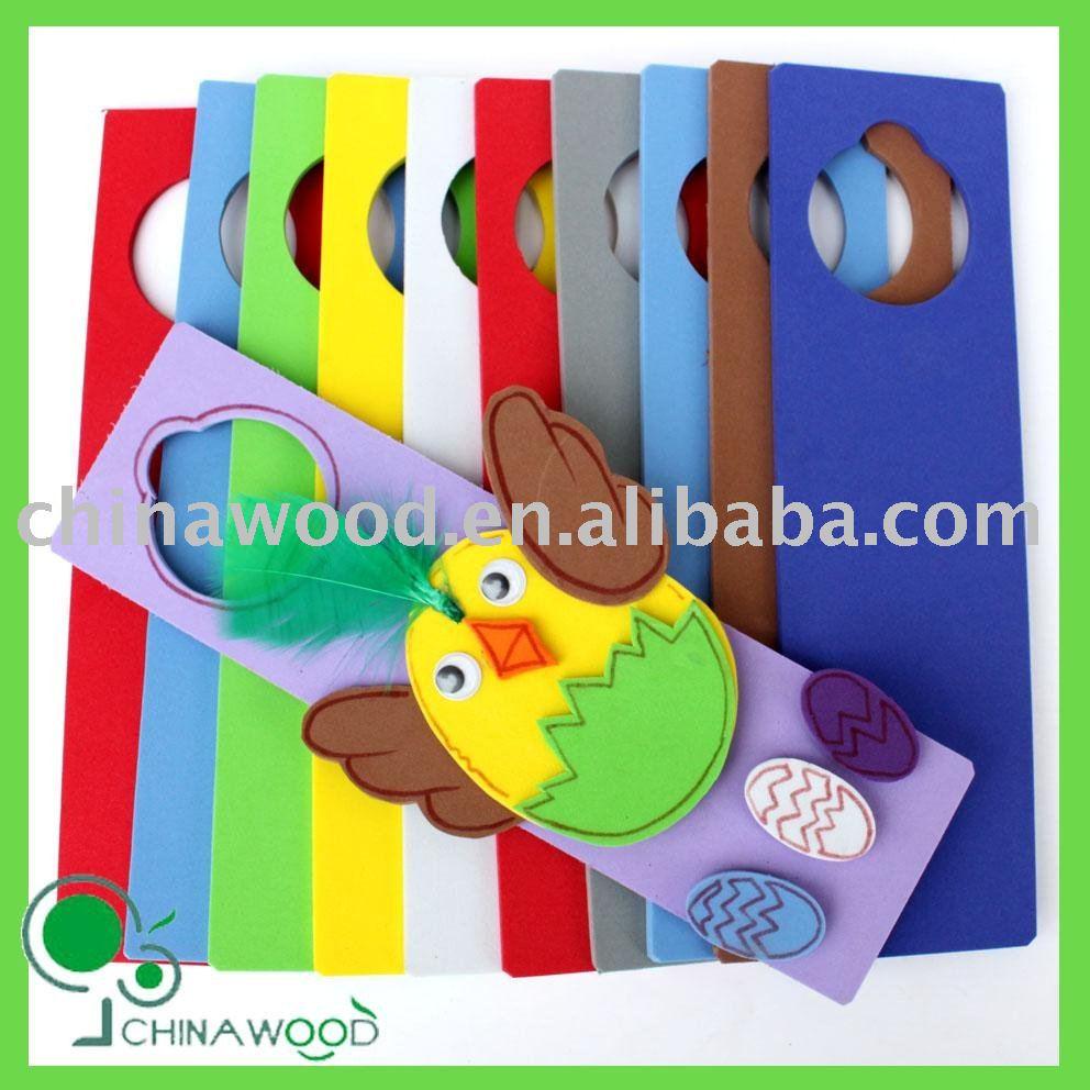 Easter Chick Foam Door Hanger,Craft Foam Door Hanger