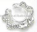elegante 316l aço dupla cobra não piercing mamilo anéis