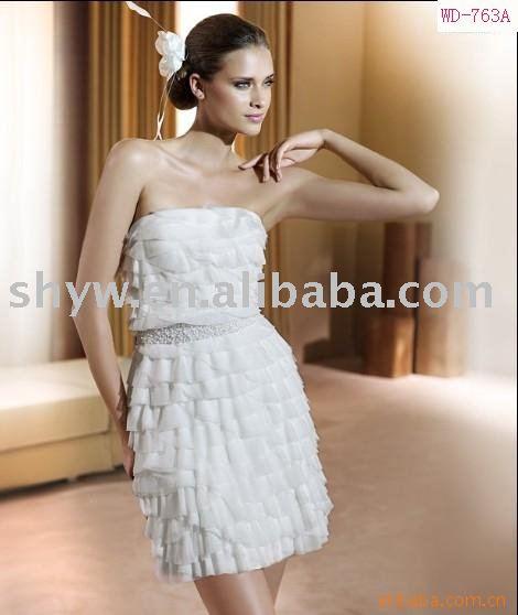 2011 fashion short christmas wedding dress