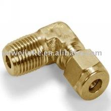 brass single ferrule 90 degree reducing elbow