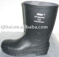 black pvc rain boots wellington gumboots printed for men