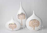 apple tree ceramic vase,craft ceramic, home decoration