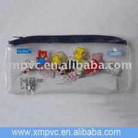 transparent promotion PVC gift packaging bag for socks packing D-Z077