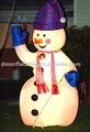 sistema de iluminación de navidad muñeco de nieve inflable