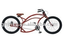 "24"" CE steel leaf frame new chopper beach cruiser"