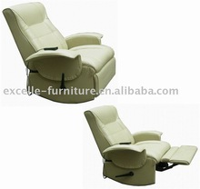 Handle operated rocking recliner chair w/8pcs vibrator massage