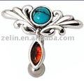 Moda nativo americano bananabell, pulsante anello di pancia, ombelico piercing gioielli