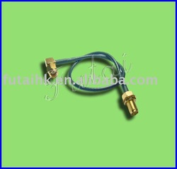 SMA RP Right angle Male to R/P SMA Straight Bulkhead Female With RG174 Interface Cable(Antenna cable)