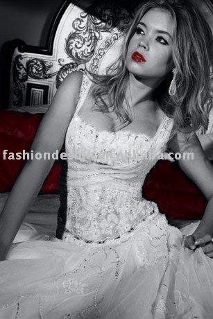 AWD144 2011 custom made tulle beaded Lebanon wedding dress