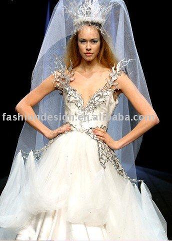 AWD182 2011 tulle crystals Lebanon wedding dress